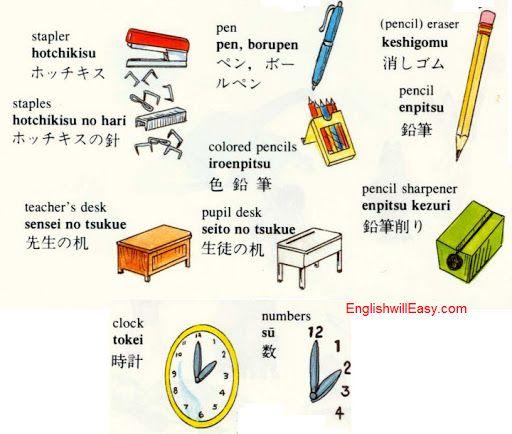 Stapler Hotchikisu ホッチキス Staples No Hari の 針 Teacher S Desk Sensei Tsukue 先生 机 Pen ペン Colored Pencils
