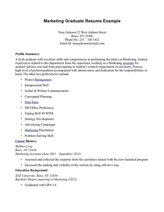 Resume Sample For Fresh Graduate -    jobresumesample 978 - phd student resume