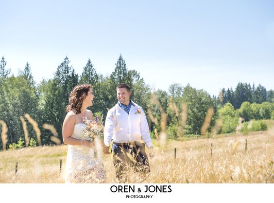 Talk about blue skies for your outdoor wedding!  Love this look!  #outdoorwedding #chilliwackwedding