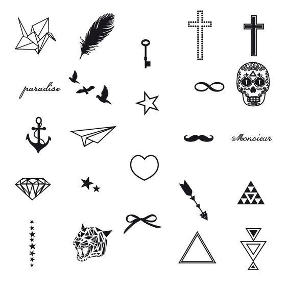 Idées de motifs pour faire des tatouages <3