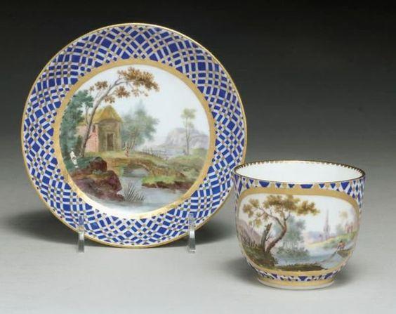 SÈVRES PORCELAIN CUP AND SAUCER 1768