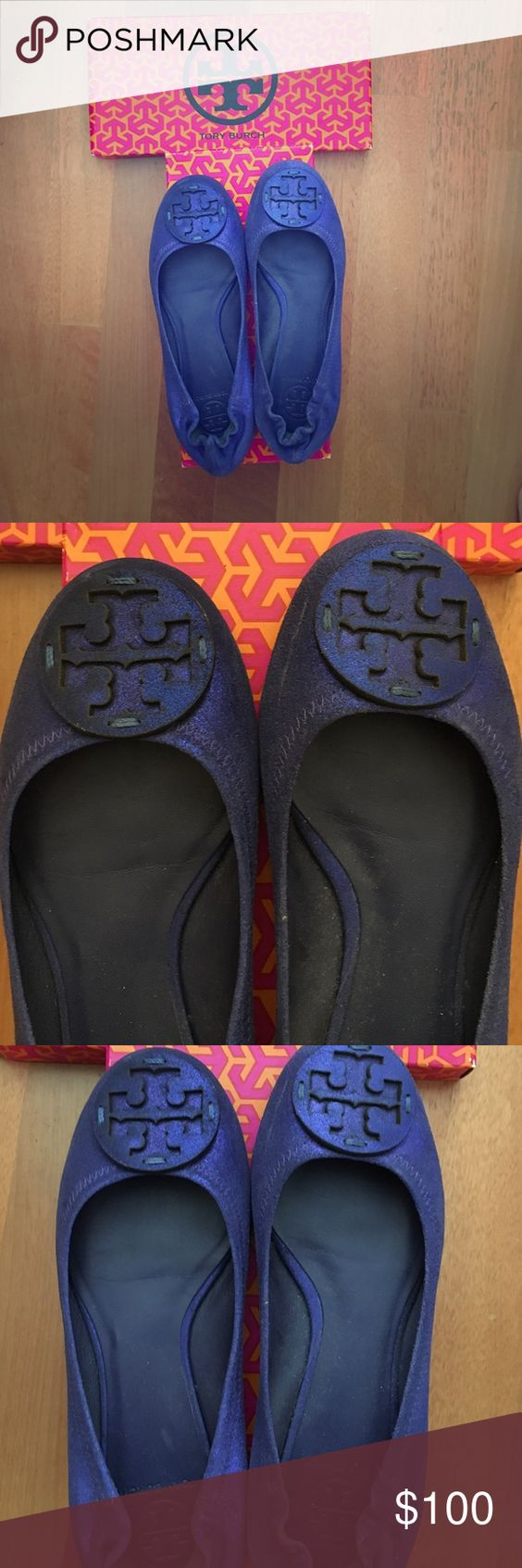 Tory Burch blue flats Flats been worn once or twice, willing to negotiate Tory Burch Shoes Flats & Loafers