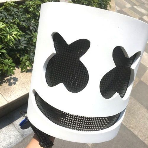 Marsh mello Helmet Full Head Mask Cosplay Costume Props Halloween Party Xcoser