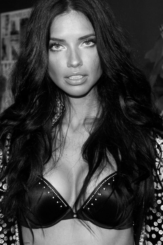 Adriana Lima at Victoria`s Secret fitting