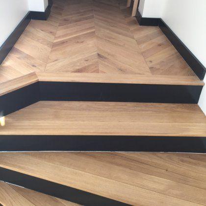 H3 Habillage Escalier Et Dalle Beton H3 Pour Apporter Une Continuite De L Escalier Au Palier L Habill Habillage Escalier Habillage Escalier Beton Escalier