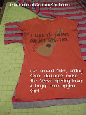 Mama Lusco Handmade: Tutorial ~ Easy Dolman Sleeve Shirt for Any Size