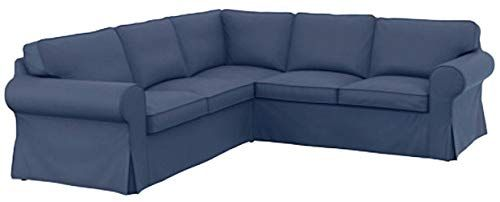 The Thick Cotton Ikea Ektorp 2 2 Sofa Cover Replacement Is Custom Made For Ikea Ektorp Corner Or Sectional So In 2020 With Images Sectional Sofa Slipcovers Sofa Covers Ikea Ektorp