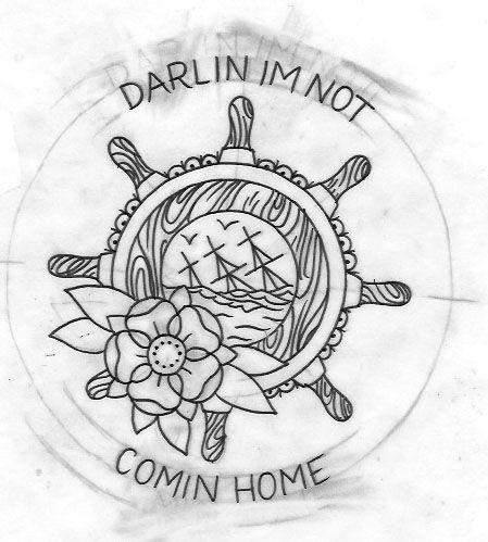 Ship Wheel Tattoo  Google Search Pinterest Ancres