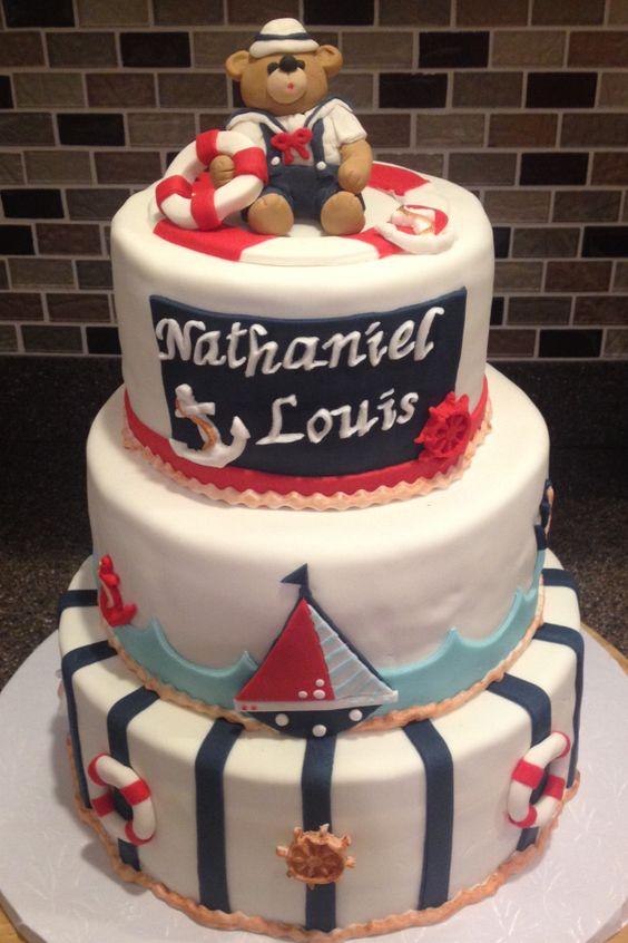 Baby Boy Nautical Themed Baby Shower Cake   Desserts By Dana   Http://