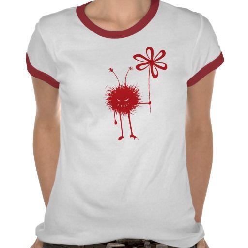 Red #Evil Flower Bug Female #Shirt $22.95