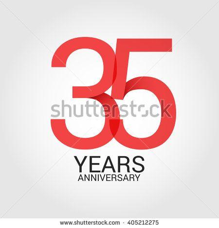 25 Years Anniversary Signs Symbols Simple Design Anniversary