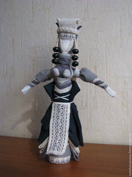 Купить Княгиня - авторская кукла - серый, мотанка, тряпичная кукла, сувенир, подарок на любой случай