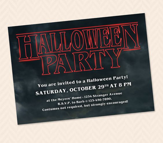 Stranger Things inspired Halloween Party by LLPapergoods on Etsy