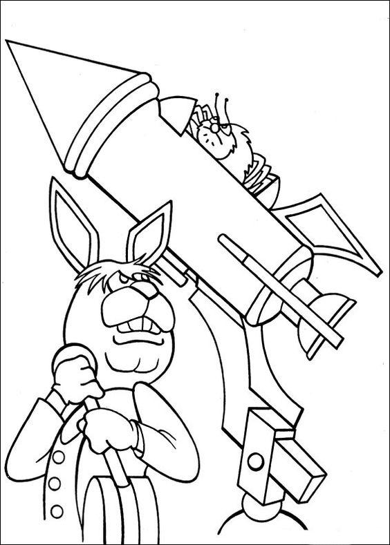 Desenhos para pintar Peter Cottontail 37