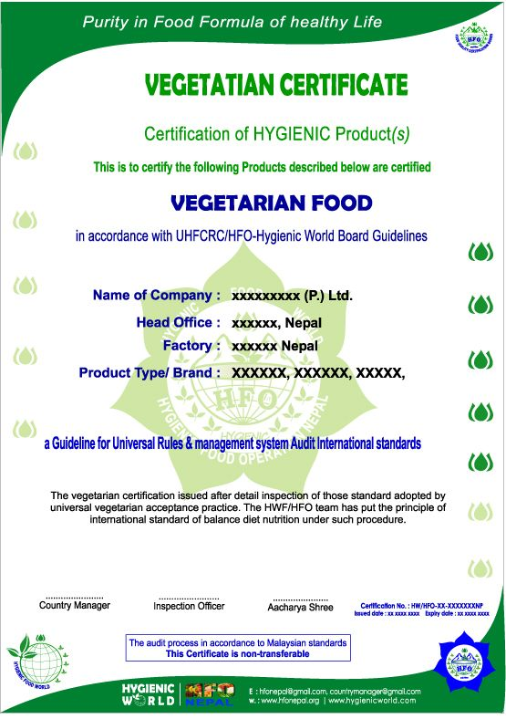 Hfo Nepal Quality Certification Bodies With Images Body