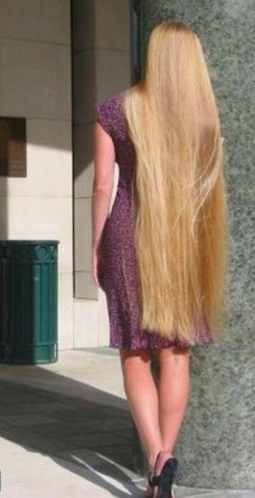 floor length blonde hair - photo #19