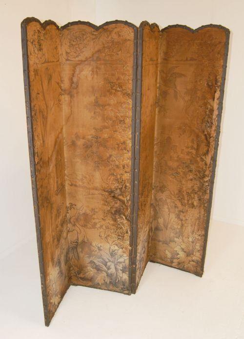 antique victorian dividers | Screen Room Divider Folding Antique Tapestry Backdrop