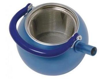 Blue Teapot with Silver Lid - www.standun.com