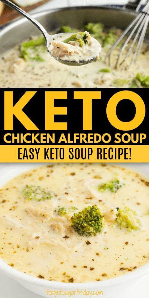 EASY Keto Soup Recipe: Keto Chicken Alfredo Soup!