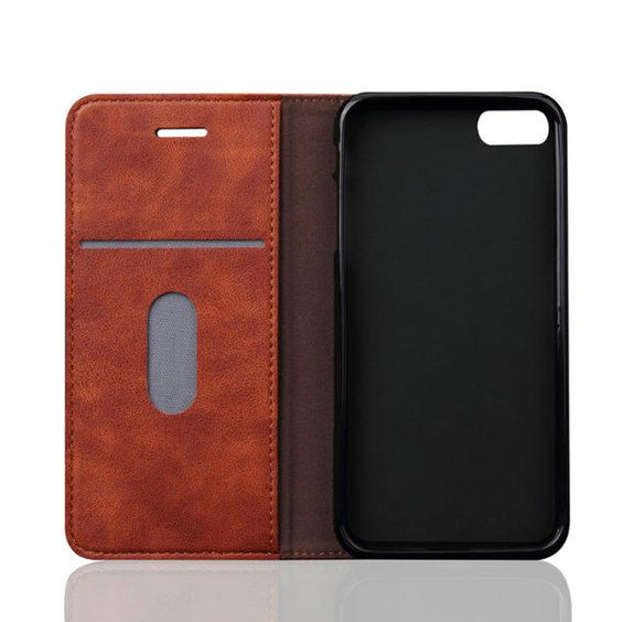 Leather Flip Wallet Leather Case for iPhone 5s 5 SE 6 6s 7 Plus Luxury PU Leather Business Phone Cover Cases Bags | iPhone Covers Online