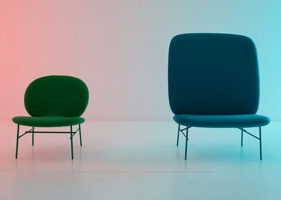 Milan 2013:top-heavy chairs by Swedish studio Claesson Koivisto Rune are currently on show at Milans Salone Internazionale del Mobile.