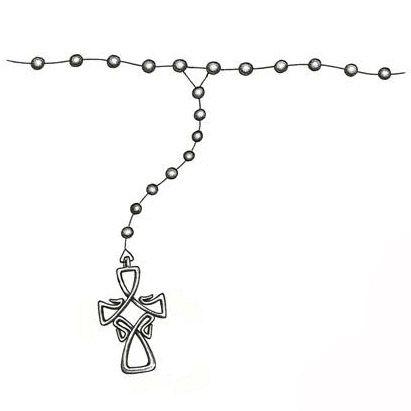 ankle rosary beads tattoo design zuk nftige projekte pinterest tattoo. Black Bedroom Furniture Sets. Home Design Ideas