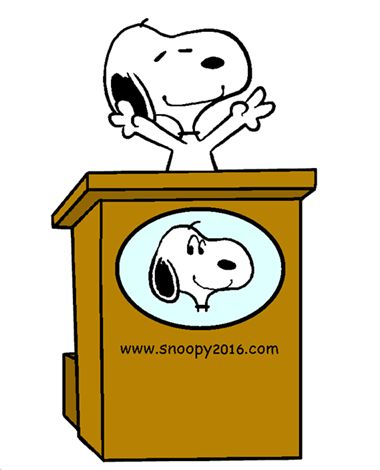 Snoopy Running for Beagle President (smaller)