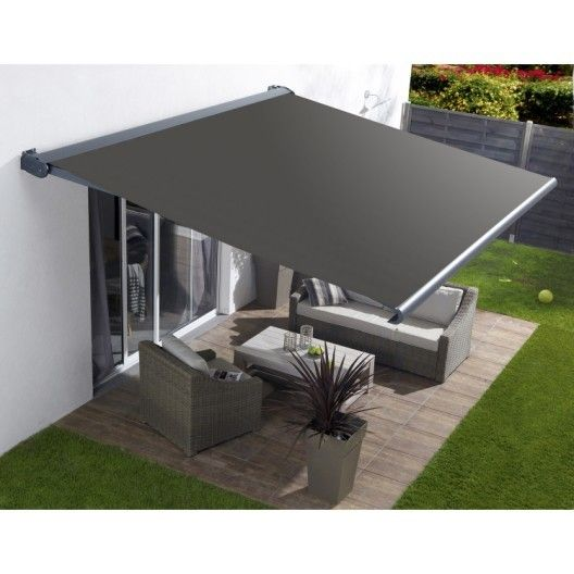 Store Banne Motorise Borneo Coffre Integral Aluminium Larg 4 X Avancee 3 5m Outdoor Awnings Backyard Patio Designs Patio Shade