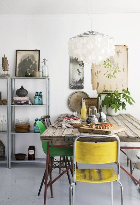 dining room decor ideas rustic eclectic style with wood