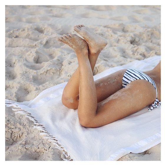 Nicola taking it easy in our Sea Stripe tie side bottoms. X
