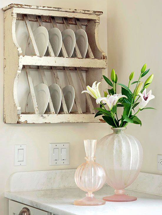 Affordable kitchen storage ideas plate storage for Cheap kitchen storage ideas