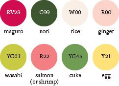 sushi_palette #color #copic #sushi