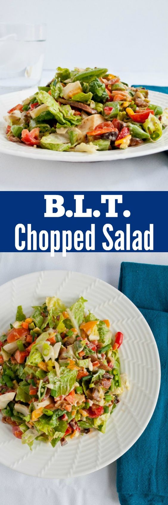Blt chopped salads, Chopped salads and Snap peas on Pinterest