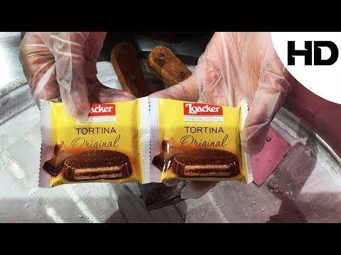 اكلات الشوارع حول العالم ايس كريم رول على الصاج ببسكويت تورتينا لواكر Street Food Youtube Snack Recipes Snacks Food