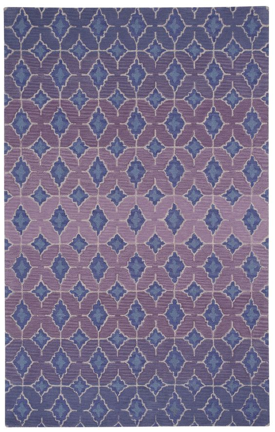 Kevin O'Brien Rossio Hand Tufted Purple Area Rug