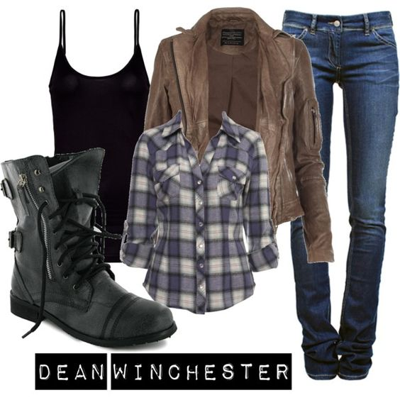 """Dean Winchester"" by ally-winchester on Polyvore - I just bought these boots today (I had no idea they were on this site!)"