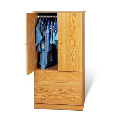 Prepac Furniture Edenvale Three Drawer Wardrobe