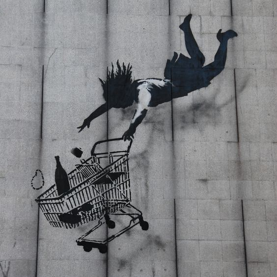 Shop till you drop – By Banksy in London, England
