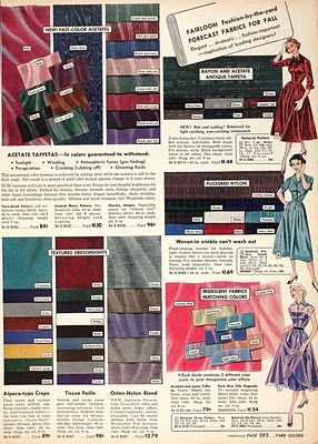 Acetate rayon in Sears catalogue
