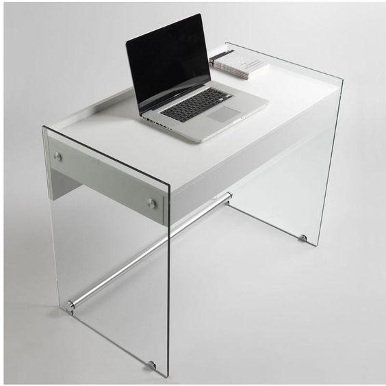 Scrivania Portacomputer MYDESK Bianco Opaco Con Struttura