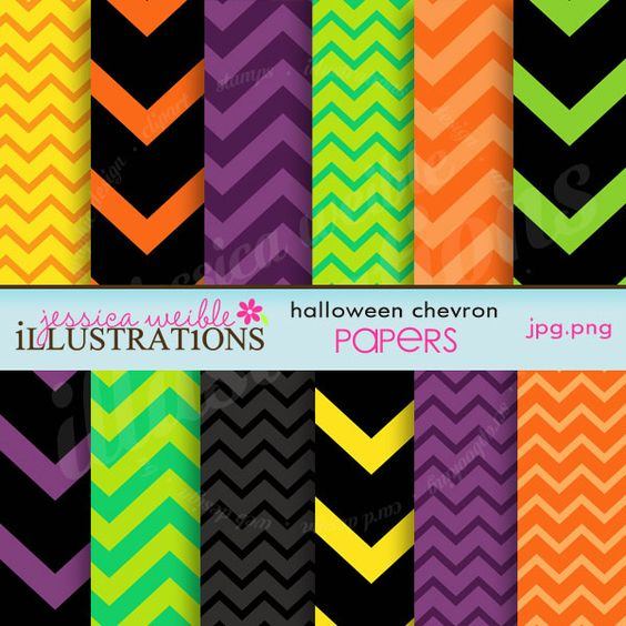 Halloween Chevron Papers freebies for personal use