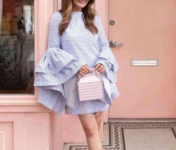 ملابس شيك للبنات سيدات مصر Women Fashion Bell Sleeve Top