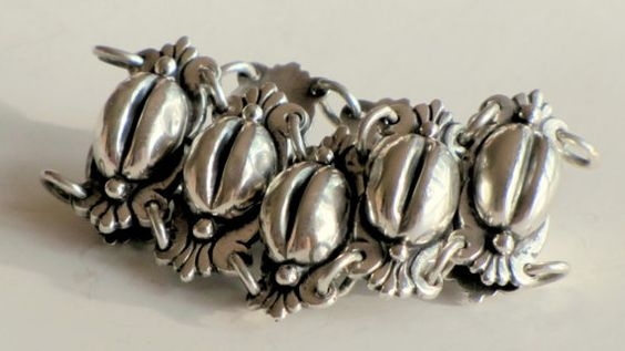 Mexican Silver Repousse Bracelet by TheButterflyBoxdeitz on Etsy, $340.00