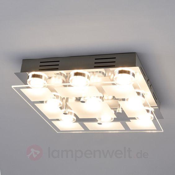 Quadratische LED-Deckenlampe Karlina