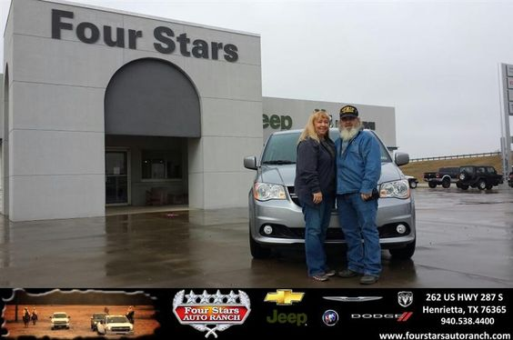 Congratulations to Cathy and Buck Loucks on your #Dodge #Grand Caravan purchase from Tracey Frerich at Four Stars Auto Ranch! #NewCar