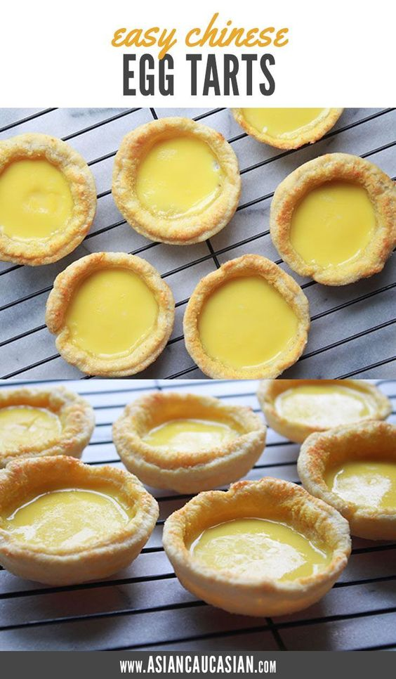 Easy Chinese Egg Tarts - Asian Caucasian Food Blog