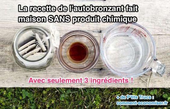 """Naturellement, ma peau est comme la porcelaine, et lorsque je suis bronzée au maximum, j'atteins à peine ce que vous pourriez appeler """"beige clair"""". Pas question pour autant de faire des UV… Heureusement, il y a ma fameuse recette de l'autobronzant fait maison avec du thé !  Découvrez l'astuce ici : http://www.comment-economiser.fr/autobronzant-maison-sans-produit-chimique-3-ingredients.html?utm_content=buffer9ad6a&utm_medium=social&utm_source=pinterest.com&utm_campaign=buffer"""