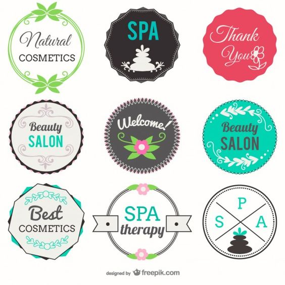 beauty badge spa badges cosmetics salon center beauty