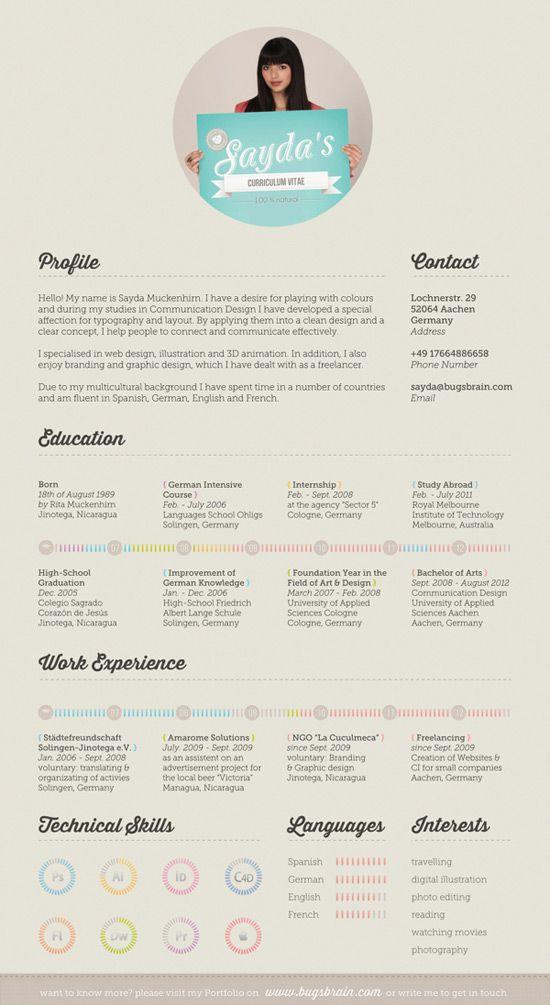 50 Curriculos de designers criativos | Criatives | Blog Design, Inspirações, Tutoriais, Web Design