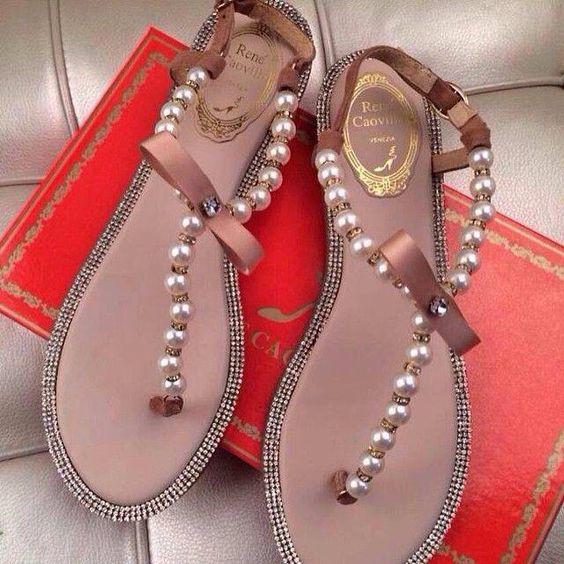 Sandalias d perlitas
